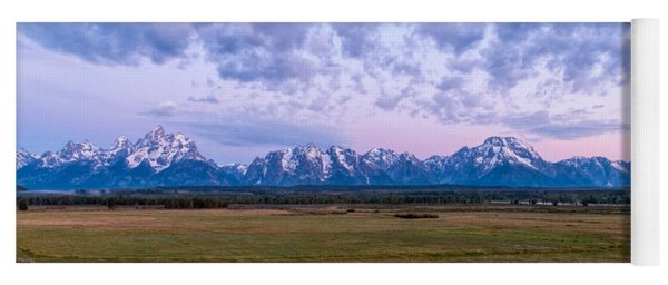 Grand Tetons Before Sunrise Panorama - Grand Teton National Park Wyoming Yoga Mat