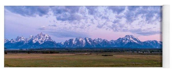Grand Tetons Before Sunrise Panorama - Grand Teton National Park Wyoming Yoga Mat