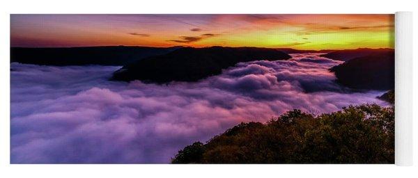 Grandview Daybreak New River Gorge Yoga Mat