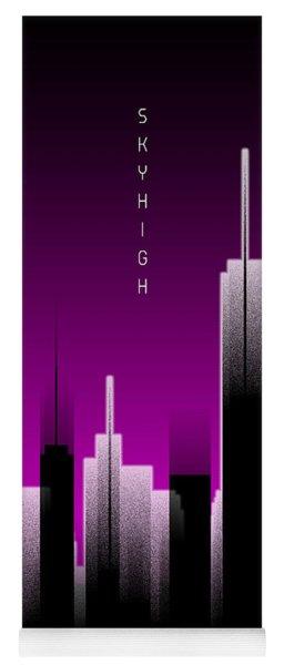 Graphic Art Skyhigh Panoramic Lights - Pink Yoga Mat