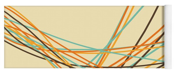 Graphic Line Pattern Yoga Mat