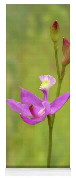 Grass Pink Orchid Yoga Mat