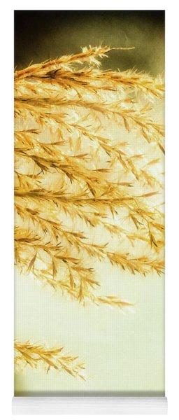 Grasses Of Gold Yoga Mat