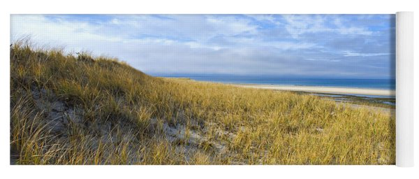 Grassy Sand Dunes Overlooking The Beach Yoga Mat