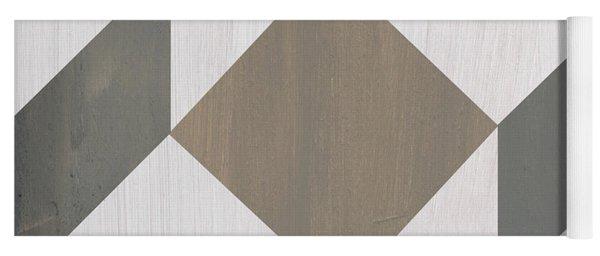 Gray Quilt Yoga Mat