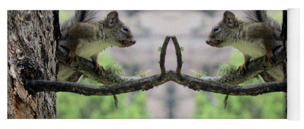 Gray Squirrel Soul Mates Yoga Mat