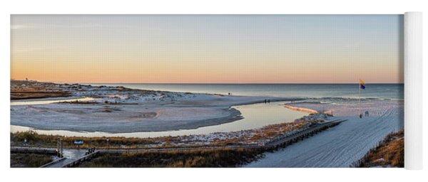 Grayton Beach Dawn Panorama Yoga Mat