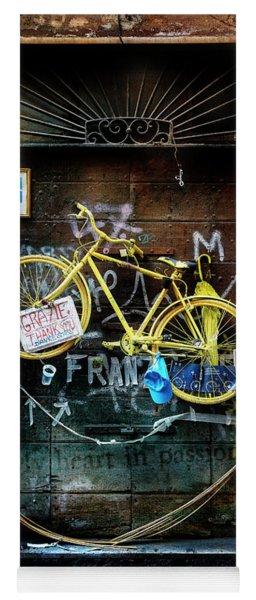 Grazie Yellow Bicycle Yoga Mat
