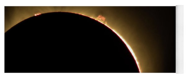 Yoga Mat featuring the photograph Great American Eclipse 16x9 Prominence As Seen In Albany, Oregon. by John King