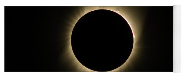 Great American Eclipse 16x9 Totality Square As Seen In Albany, Oregon. Yoga Mat