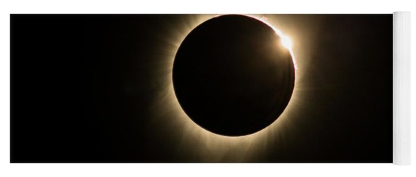 Yoga Mat featuring the photograph Great American Eclipse 16x9 Totality Square As Seen In Albany, Oregon Signature Edition. by John King