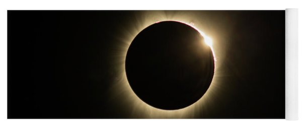 Yoga Mat featuring the photograph Great American Eclipse Diamond Ring16x9 Totality Square As Seen In Albany, Oregon. by John King