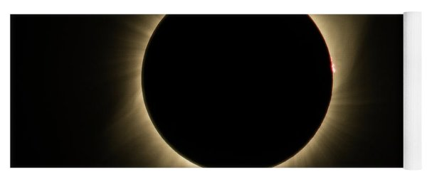 Yoga Mat featuring the photograph Great American Eclipse Totality Square As Seen In Albany, Oregon. by John King