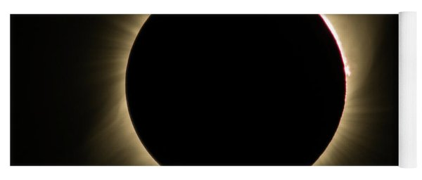 Great American Eclipse Totality Square Yoga Mat