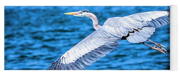 Great Blue Heron Flight Yoga Mat