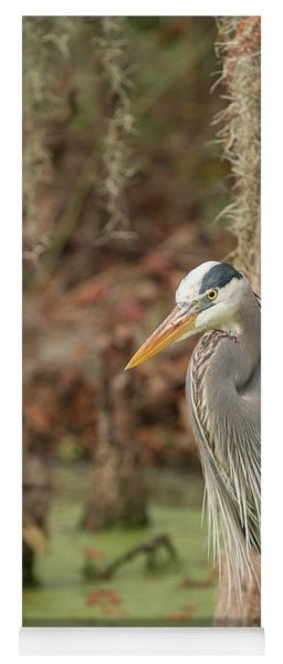 Great Blue Heron On Guard Yoga Mat