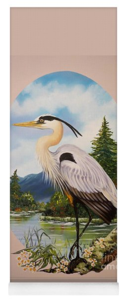 Flying Lamb Productions                 Great Blue Heron Yoga Mat