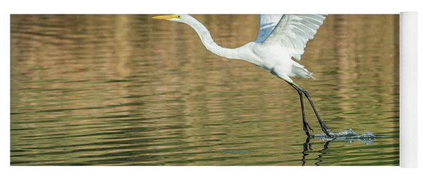Great Egret 4715-091017-1 Yoga Mat