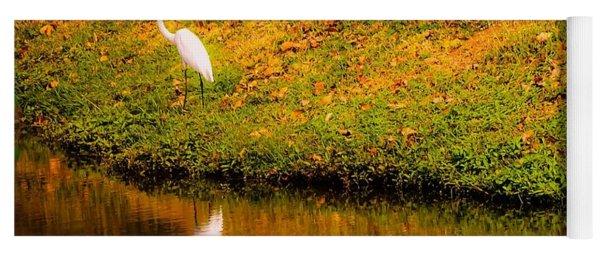 Great Egret At The Lake Yoga Mat