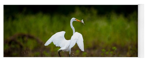 Great Egret, Great Fisherman Yoga Mat