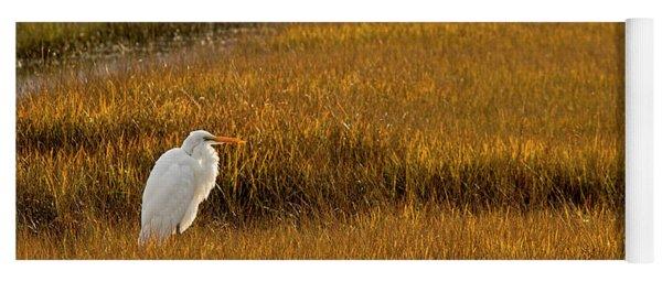 Great Egret In Morning Light Yoga Mat