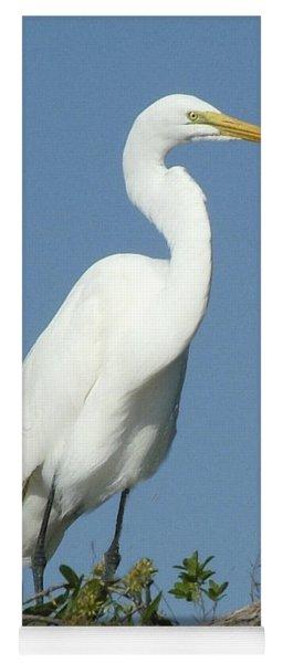 Great Egret Profile Yoga Mat