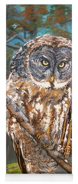 Great Grey Owl 2 Yoga Mat