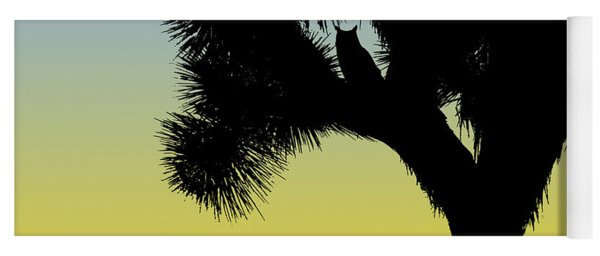 Great Horned Owl In A Joshua Tree Silhouette At Sunrise Yoga Mat