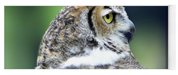 Great Horned Owl Profile Yoga Mat
