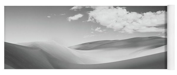 Great Sand Dunes National Park In Black And White Yoga Mat