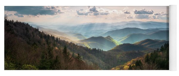 Great Smoky Mountains National Park North Carolina Scenic Landscape Yoga Mat