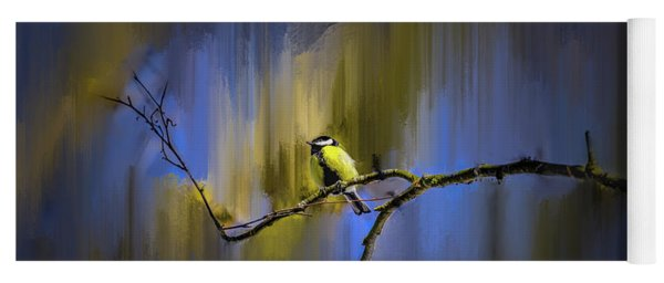 Great Tit On Branch #h3 Yoga Mat