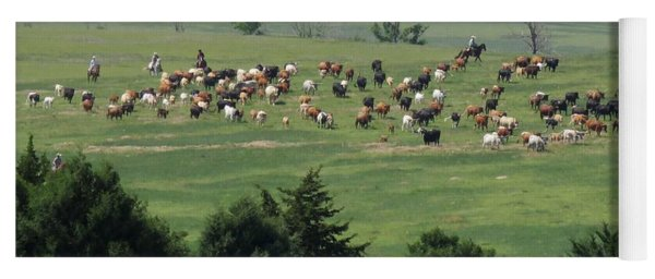 Great Western Cattle Drive Yoga Mat