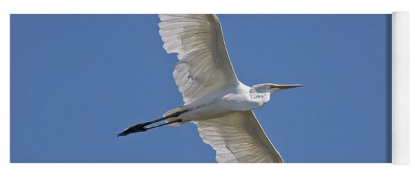 Great White Egret Yoga Mat