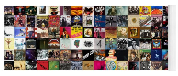 Greatest Rock Albums Of All Time Yoga Mat