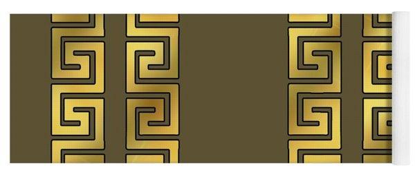 Greek Gold Pattern - Chuck Staley Yoga Mat