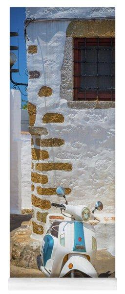 Greek Scooter Yoga Mat