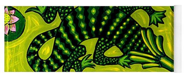 Green Alligator Yoga Mat