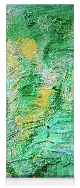 Green And Gold Abstract Yoga Mat
