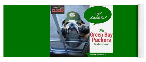 Yoga Mat featuring the digital art Green Bay Packers by Kathy Tarochione