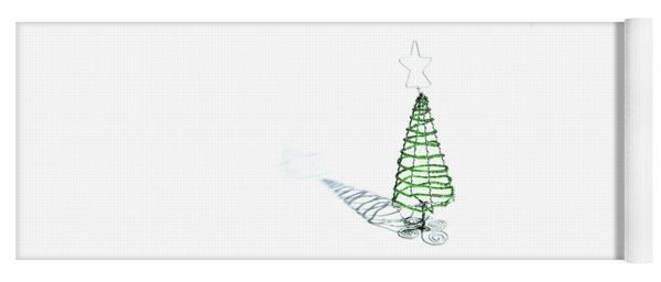 Green Bead Christmas Tree II Yoga Mat