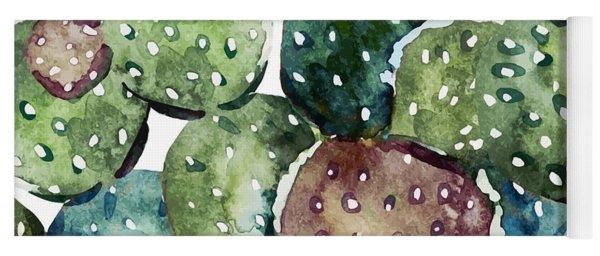Green Cactus  Yoga Mat