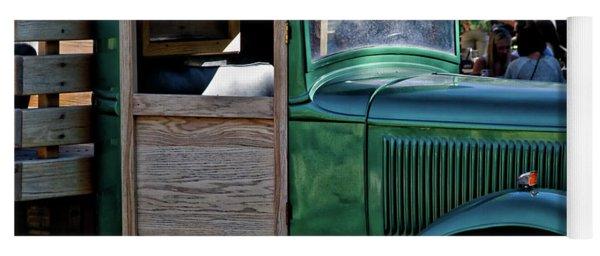 Green Classic Truck Yoga Mat