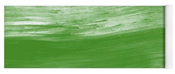 Green Drift- Abstract Art By Linda Woods Yoga Mat