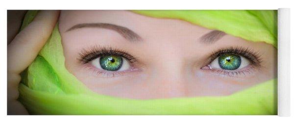 Green-eyed Girl Yoga Mat