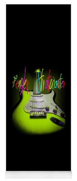 Green Stratocaster Guitar Yoga Mat