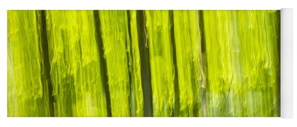 Green Forest Abstract Yoga Mat