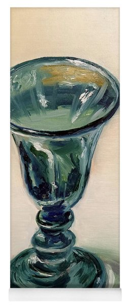 Green Glass Goblet Yoga Mat