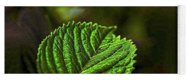 Green Leaf Yoga Mat