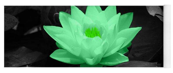 Green Lily Blossom Yoga Mat
